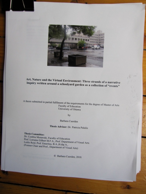 unpublished thesis, faculty of education, university of ottawa